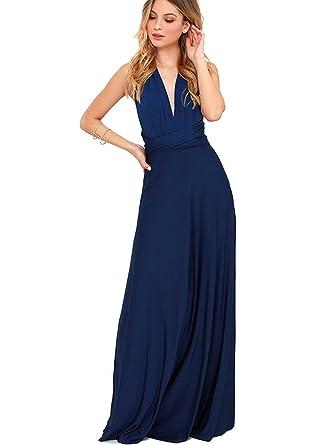 95ef62f240d0f1 ZEARO Damen Kleider lang Abendkleid elegant Vintag Kleider Sexy hochzeit  festlich ( S/32)