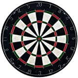 Trademark Games Bristle Dart Board with Metal Wire Spider – Professional Regulation Size Tournament Set with 6-17 Gram Steel Tip Darts for Indoors