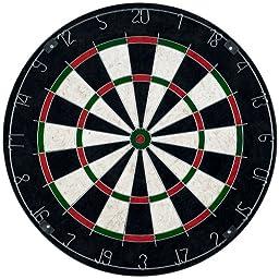 TG Pro Style Bristle Dart Board Set with 6 Darts and Board (Multicolor, 18-Inch)