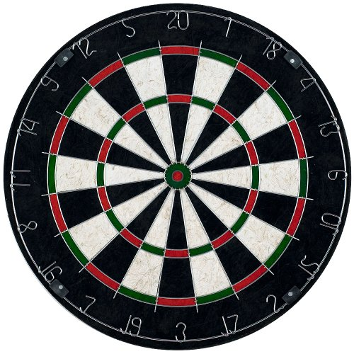 Trademark Games Bristle Dart Board with Metal Wire Spider - Professional Regulation Size Tournament Set with 6-17 Gram Steel Tip Darts for Indoors