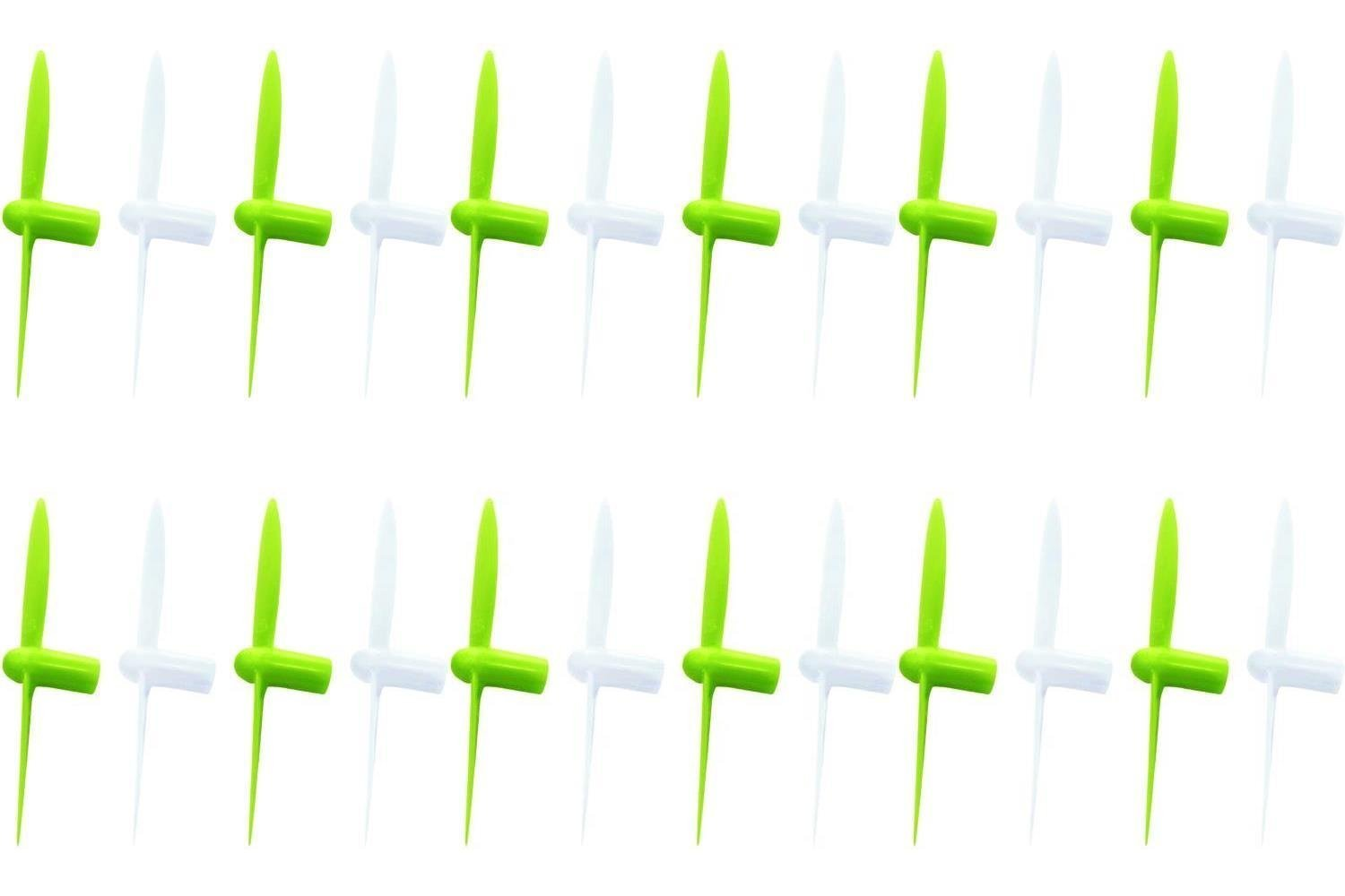 6 x Quantity of Estes Proto X SLT Nano Propeller Blades Lime Grün & Weiß Propellers Props Prop Set Blades Rotor Blade Replacements - FAST FREE SHIPPING FROM Orlando, Florida USA!