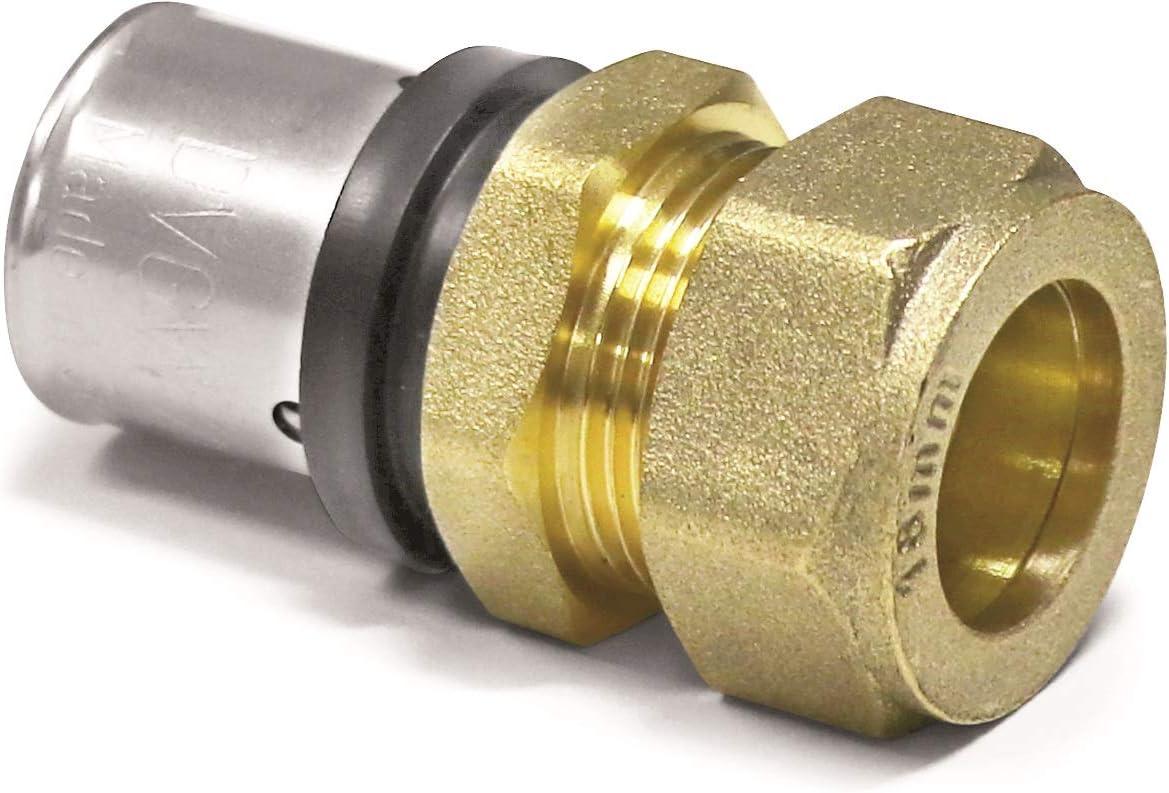 5 Stück Zewotherm Pressfitting T-Stück reduziert 26x3-20x2-20x2 TH-Kontur