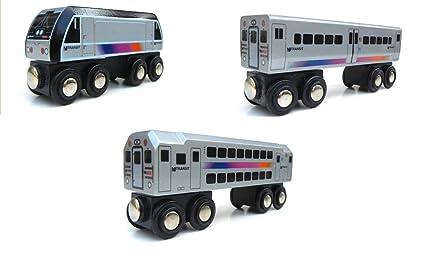 Amazon Com Munipals Wooden New Jersey Nj Transit Locomotive And