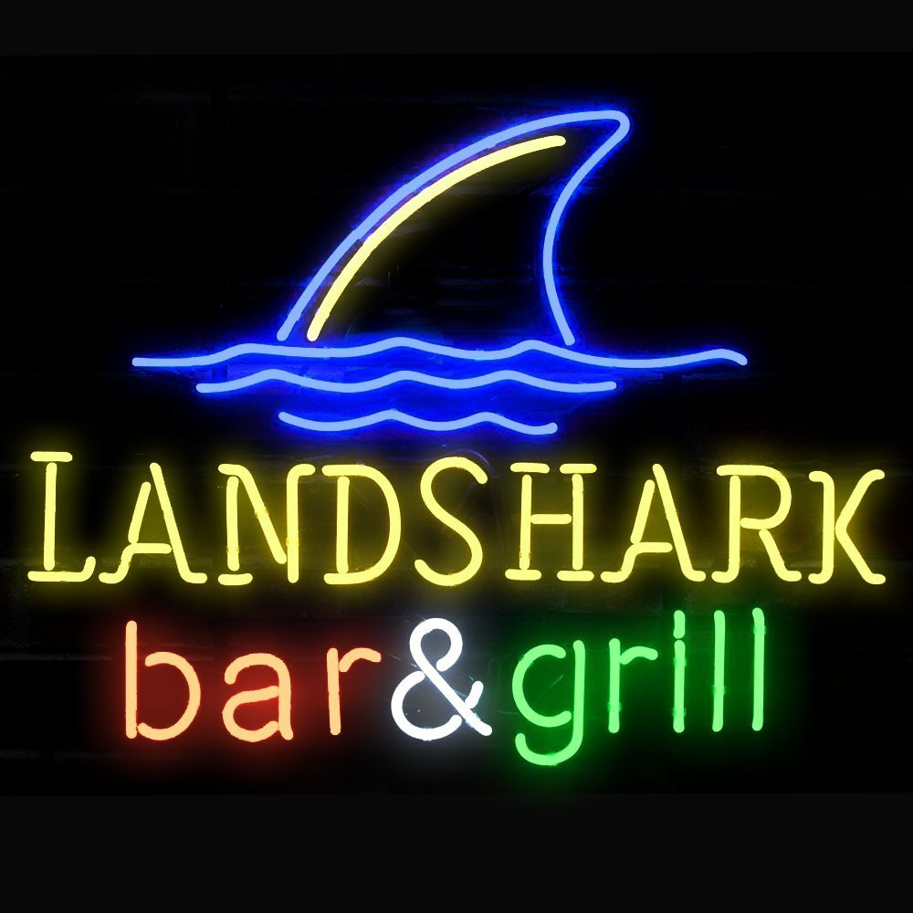 Urby™ 24''x20'' Land S hark Bar& Gril Beer Custom Handmade Glass Tube Neon Light Sign 3-Year Warranty-Unique Artwork! U285