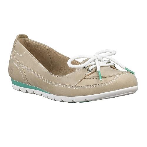 Timberland - Mocasines de cuero nobuck para mujer Beige beige: Amazon.es: Zapatos y complementos