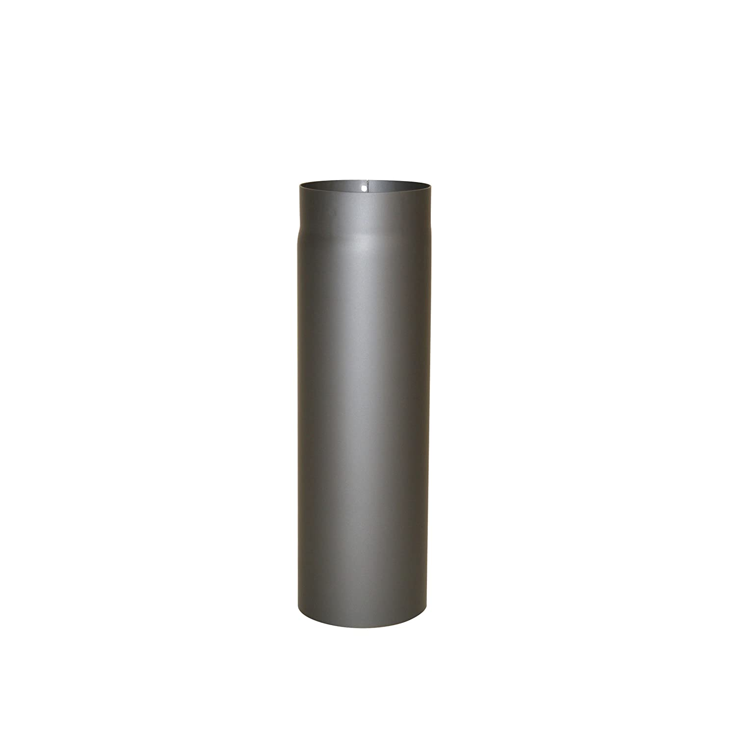 Kamino - Flam Ø 120 mm Steel Stove Pipe, Heat Resistant Senotherm Coating Flue Pipe for Stoves, approx. 500 mm Straight Length Chimney Pipe, Single Wall Pipe EN 1856-2 Standard, Cast Iron Grey 331721