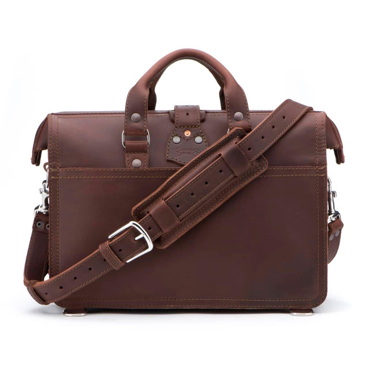Saddleback Leather Co. Flight Bag 15-inch Full Grain Leather Expandable Laptop Briefcase for Men Includes 100 Year Warranty by Saddleback Leather Co. (Image #3)