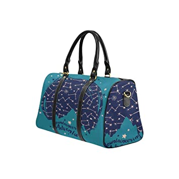 4fede37713f Amazon.com   InterestPrint Weekender Bag Travel Duffel Bag for Weekend  Overnight Trip Mountaineering with Mountain Silhouette on Starry Sky    Travel Duffels