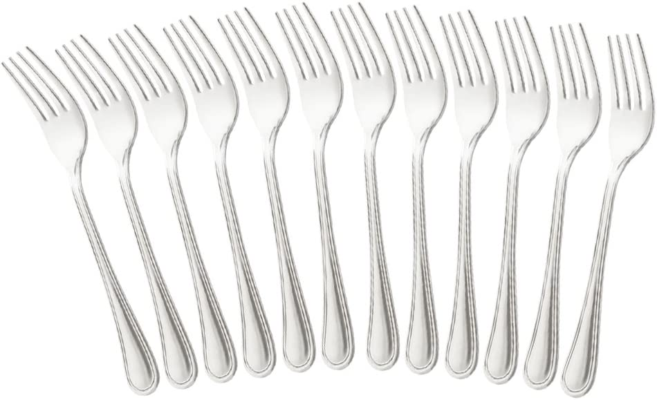 22.7 cm COM-FOUR/® cuchillo de men/ú 6x de acero inoxidable cubiertos de mesa elegantes en un dise/ño simple cuchillo de mesa con filo dentado