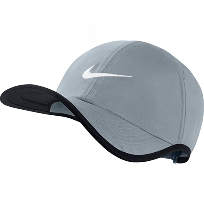 25794878 Amazon.com: Nike Unisex Feather Light Adjustable Hat, Grey/Black, One Size  (Adjustable): Clothing