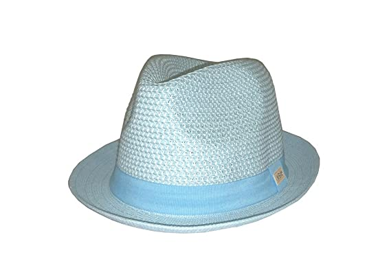 Resort Fedora Hat Small Sky Blue at Amazon Men s Clothing store  2f2533097a2