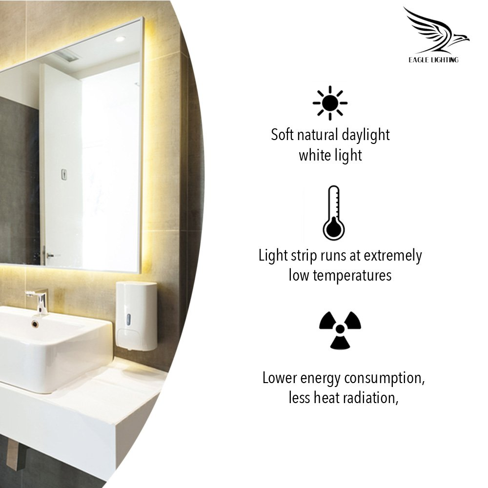 Vanity Lights - With FREE 10X MAGNIFYING MIRROR - Hollywood Style ...