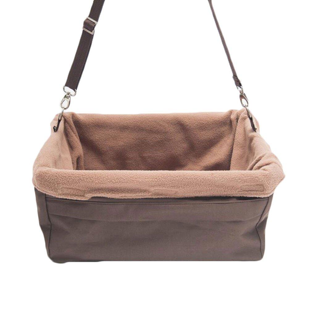 M A_Feel pet mat Pet car seat Oxford cloth waterproof safety car rear seat dog pad (brown) (Size   M)