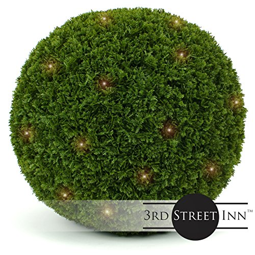 Outdoor Lighted Boxwood Topiary in US - 1