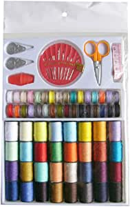 SUPVOX Sewing Thread Spools Kit Thread Spools Cone Coils Sewing kit with Scissors Thimble Tape