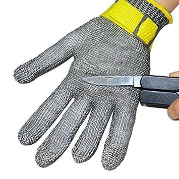 100% Seguridad Acero Inox Malla Metálica Carnicero Guantes Cut A Prueba De Protección Guante
