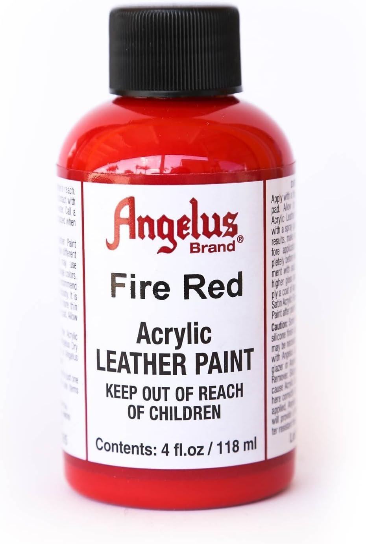 Angelus Leather Paint 4oz-Fire Red (Original Version)