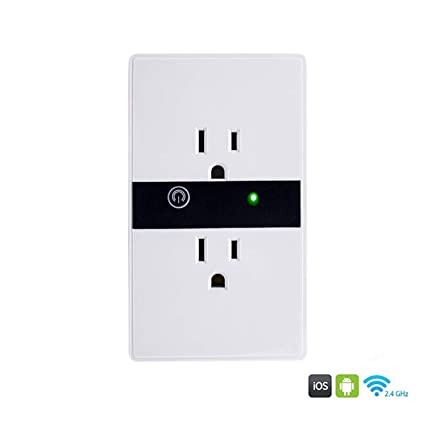 Smart Wifi Wall Outlet Plug Duplex Receptacle Switch Wireless In