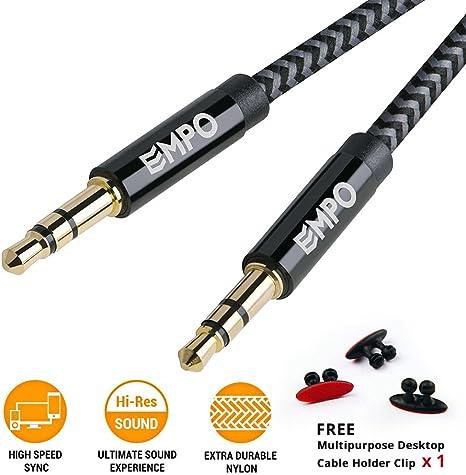 3,5mm Klinke auf 3,5mm Klinke Kabel 1,80m Stereo Audio Kabel Sound Musik MP3 NEU