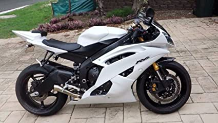 Amazon.com: White Fairing Bodywork Injection for 2006-2007 Yamaha ...