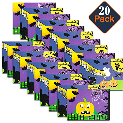 Walmart Halloween Toys for Goody Bags Set -- Pack of 20 Halloween Coloring and Activity Books with Puzzles, Mazes and Games (Halloween Non-Candy Treats, Party Favors) -
