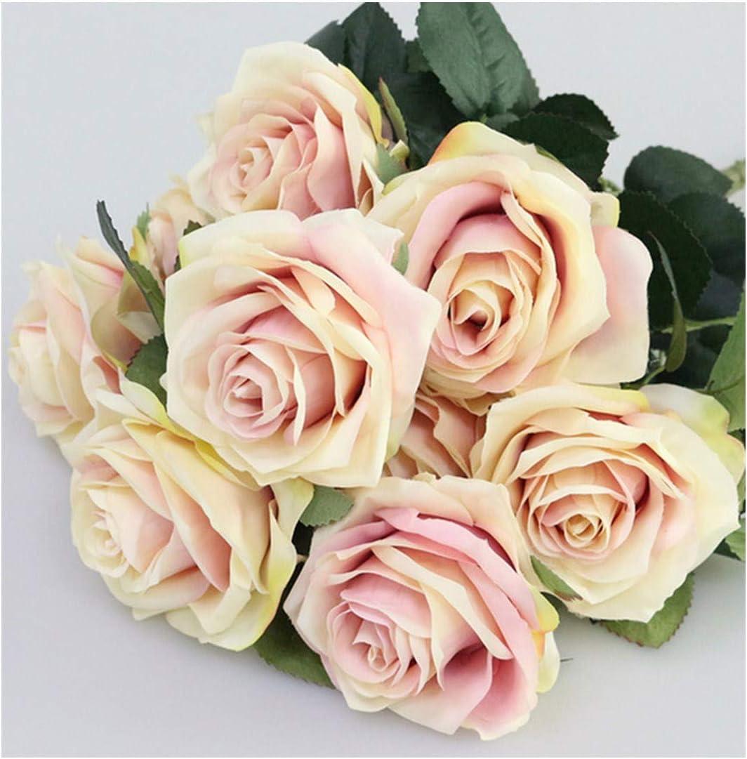 1 Bouquet  Artifical Rose Silk Flower Wedding Party Home Decoration Decor