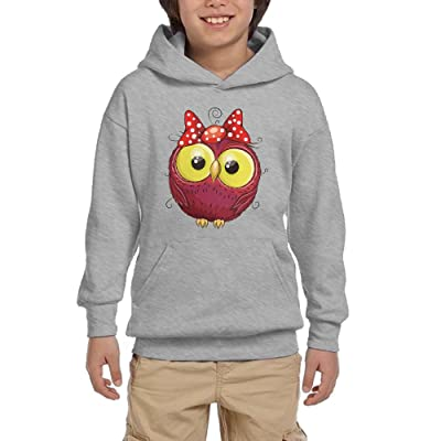 Owl Cartoon Funny Teen Boys Pullover Hoodie Athletic Pocket Sweater