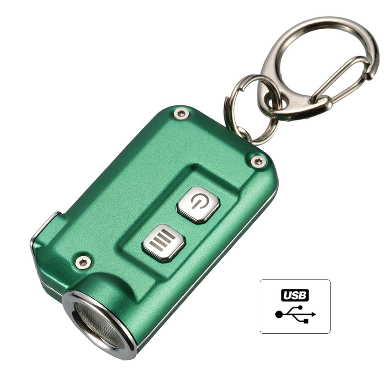 Nitecore TINI Keyring Torch - Super Bright USB Rechargeable - Small Torch 380Lm Runtime up to 60 Hours 7 Colours