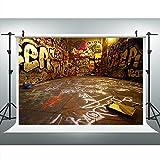 Maijoeyy 7x5ft Hip-Hop Photography Backdrop Graffiti Vinly Photo Background Backdrop Photography Props MJ-CM-HG-245-D1
