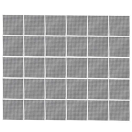 Bluecell 30pcs Plastic Flower Pot Hole Mesh Pad Bonsai Bottom Grid Mat, 2 x -