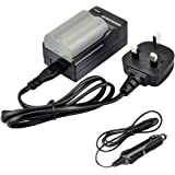 DSTE® EN-EL3E Rechargeable Li-ion Battery + DC11U Travel and Car Charger Adapter for Nikon D30 D50 D70 D70S D90 D80 D100 D200 D300 D300S D700 Digital SLR Camera