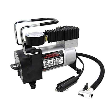 Presión Super Flow portátil DC 12V 80 psi metal de aire del neumático del compresor del