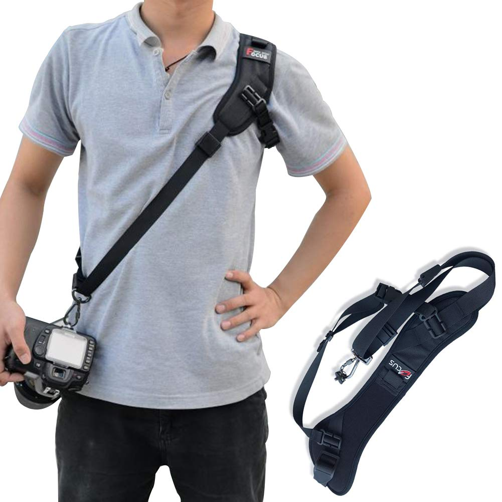 Quick Release Camera Strap Padded Shoulder Neck Sling Strap Belt Adjustable Shoulder Safety Tether Cameras Canon Nikon Sony SLR DV by Ciao Life