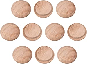uxcell Wood Button Top Plugs 13/16 Inch Cherry Hardwood Furniture Plugs 25 Pack