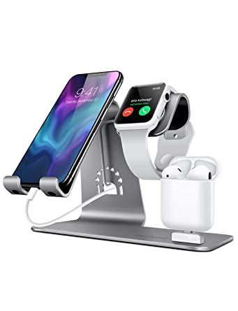 Amazon.com: Bestand - Soporte 3 en 1 para Apple iWatch ...