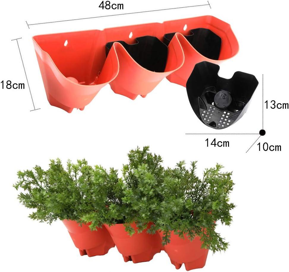Worth Juego de 3 macetas Colgantes de Pared Vertical para jardín ...