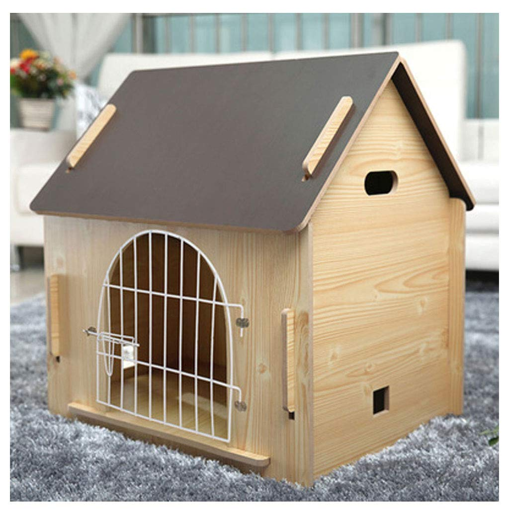 Have door Small Have door Small ZHhome Wooden Detachable Kennel, for Pet Has a Home,Red pine color (Multi-Style and Multi-Size Optional) (color   Have door, Size   Small)