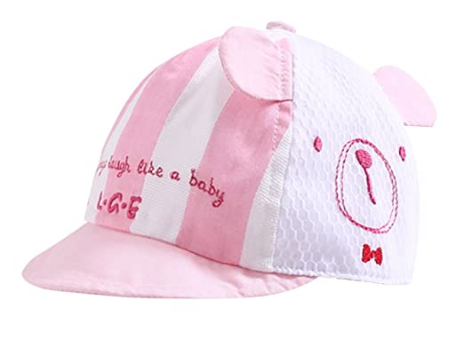 Liangguaner - Cappello d Estate a Rete da Neonati Bambini Visiera Cap  Protezione da Sole per Viaggio Spiaggia Cappellini da Baseball Cap Stampa  Cartoni ... 1460a451c26b
