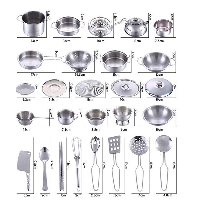 Amazon.com: Basde - Juego de ollas y sartenes de cocina ...