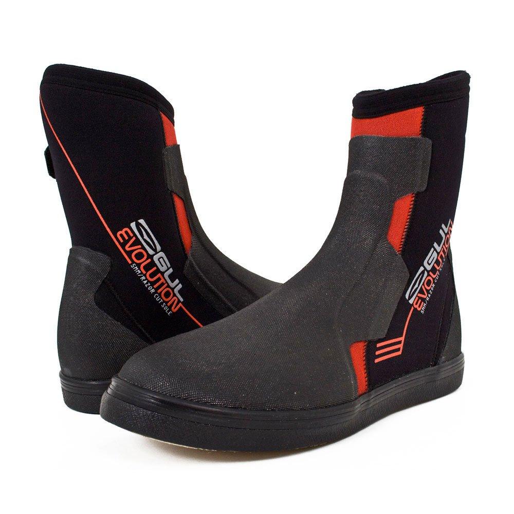 Gul Evolutionブーツ – 5 mmウェットスーツブーツ – ブラック/レッド UK Size 12  B00GIS0F6W