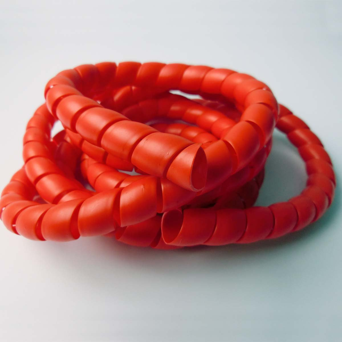 Outside Dia Spiral Wire Wrap Tube PC Manage Cord Self-Gripping Cable 79/Piece (Red, 8mm OD 79 Length) 8mm OD 79 Length)