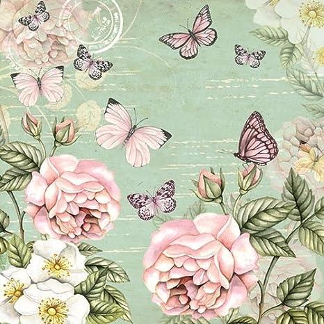 Carta Decoupage Shabby Chic.Amazon Com 4 Paper Napkins For Decoupage 3 Ply 33 X 33cm