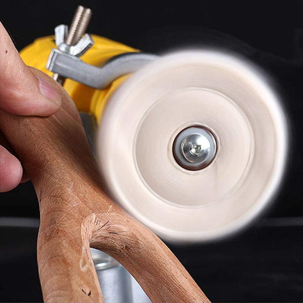 2pcs Spirale Double-Stitched Polissage Roue Blanc Poli Roue Pad Mop Kit Tampon Polissage Meulage Machine Pad 2 pouces