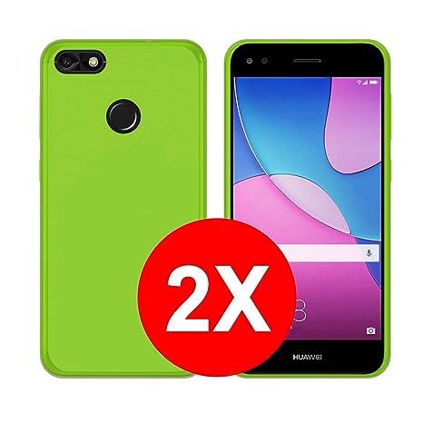 be5801e62b7e0 TBOC 2X Funda de Gel TPU Verde para Huawei Y6 Pro (2017)  Amazon.es   Electrónica