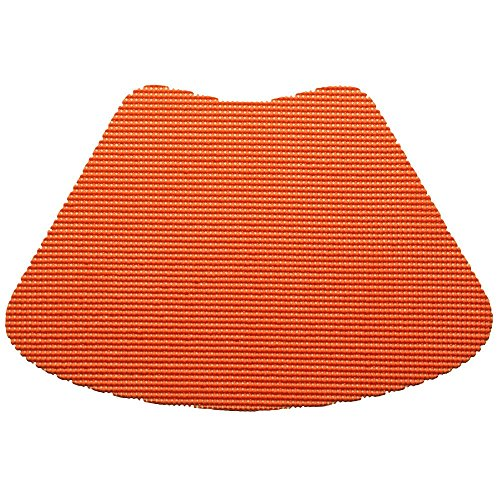 12 Piece Spice Orange Fishnet Placemat, Traditional Style, Lace Material, Solid Pattern, Wedge Shape, Machine washable, Perfect For Everyday, Fade Resistant And Durable, Dark Orange