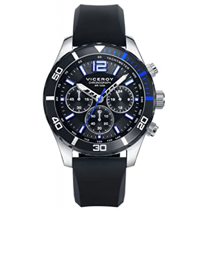 Amazon.com: Watch Viceroy 401023-55 Silicone Chronograph Black Man: Watches