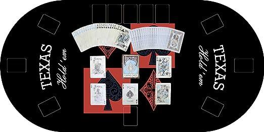 Oedim Tapete Poker Antideslizante Oval Texas Hold´em Negro PVC 120 ...