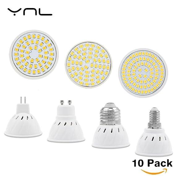 Amazon.com: 10PCS/Lot Lampada Led E27 E14 GU10 MR16 Led Lamp 220V High Bright Bombillas LED Bulb SMD2835 48 60 80LEDs Lampara for Spotlight: Home & Kitchen