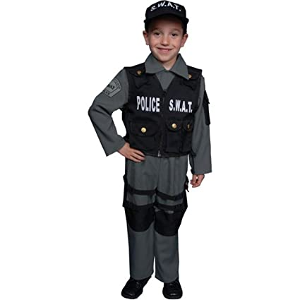 Amazon.com: Dress Up America - Disfraz de policía SWAT ...