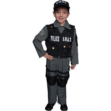 Dress up America - Disfraz de policía SWAT deluxe para niños ...